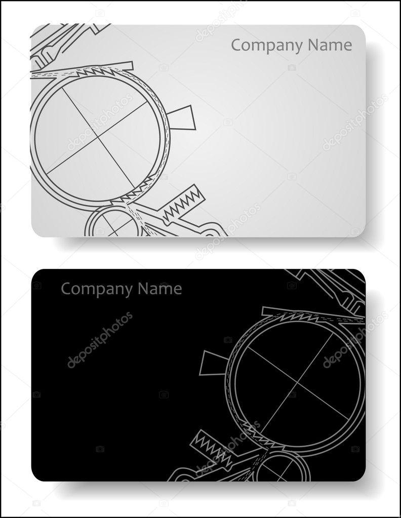 Visitenkarte Für Den Ingenieur Stockvektor Anasteisha