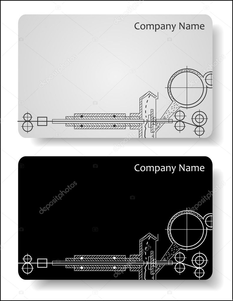 Electrical Engineers Consulting Business Cards : Business cards for the engineer — stock vector