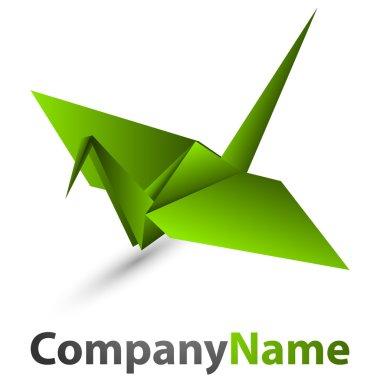 Origami swan logo