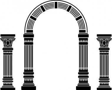 Fantasy arch and columns