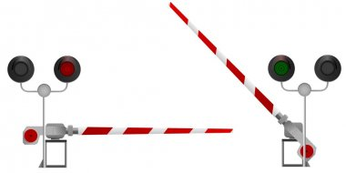 Railway barrier. vector
