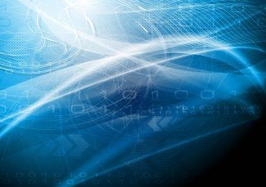 Blue tech design