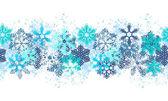 Photo Seamless blue border with snowflakes
