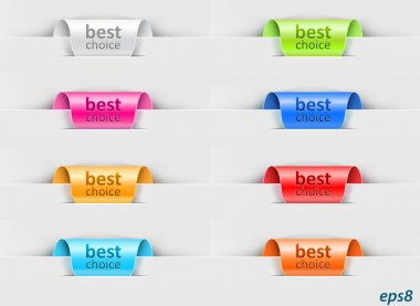 Labels with color variations stock vector