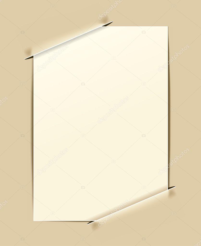 Retro Papier Rahmen — Stockvektor © Ghenadie #5635198