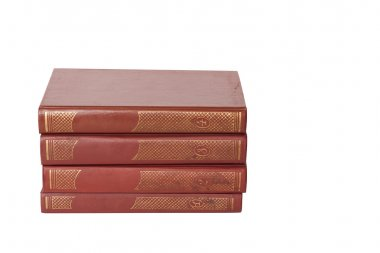 Old books isolated on white stock vector