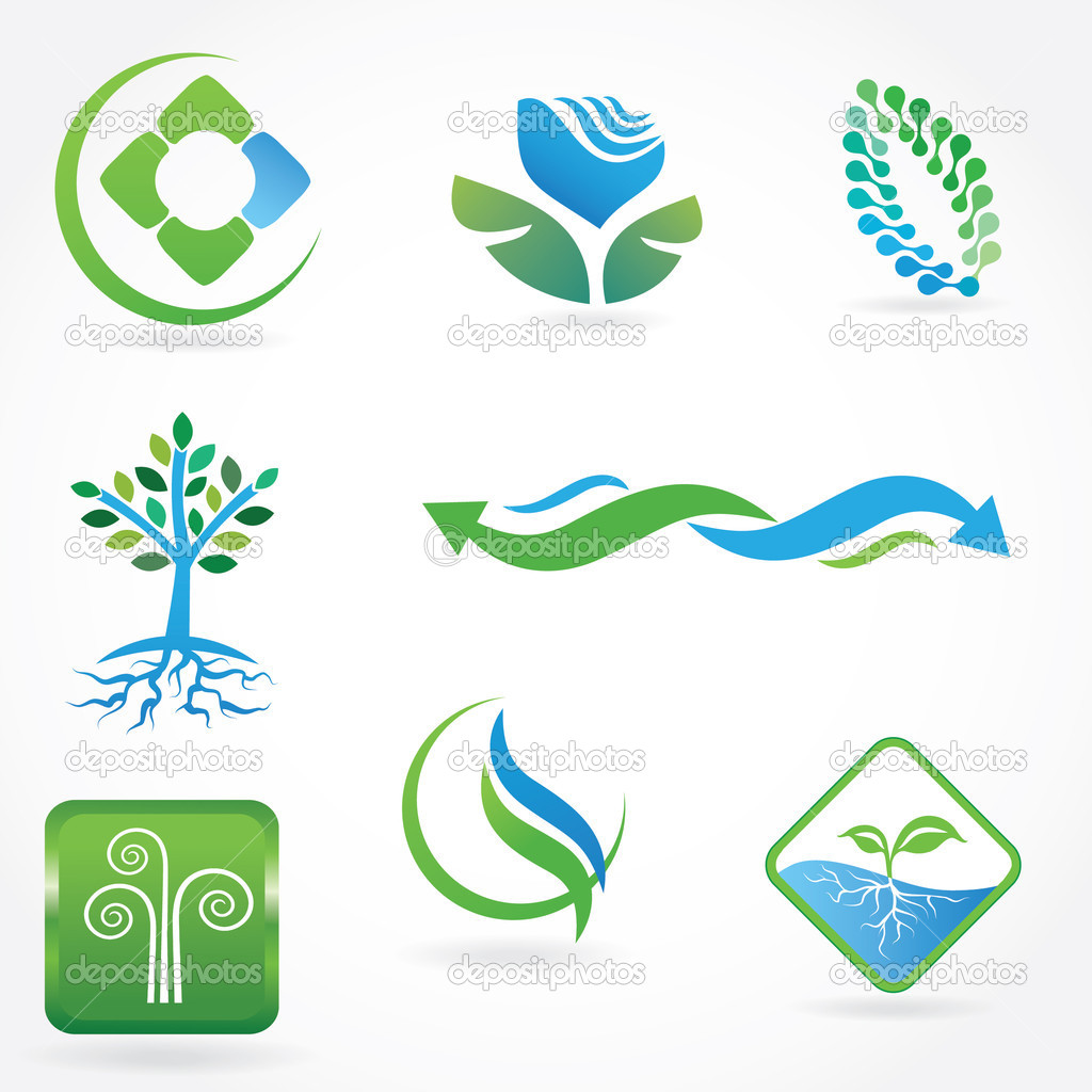 Set of ecological symbols