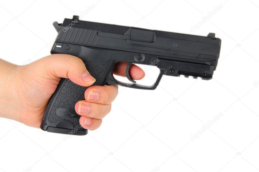 Hand holding a gun — Stock Photo © dotweb #6683966