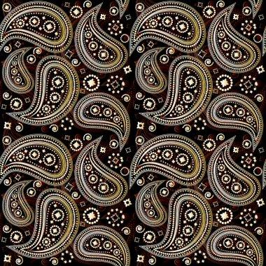 Paisley Seamless Pattern clip art vector
