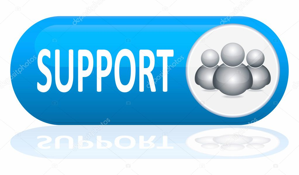 support banner isolated on white