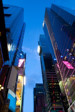 Corporate buildings at Times Square New York