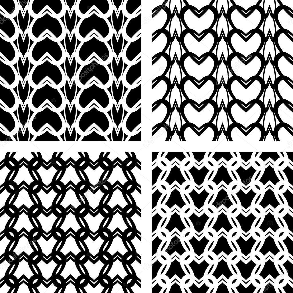 patrones de punto encaje transparente — Vector de stock © troyka ...
