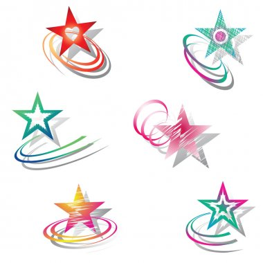Stars. Design elements set.