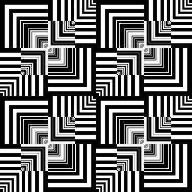 Seamless op art pattern. Geometric texture.
