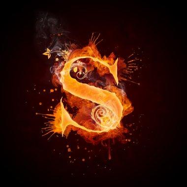 Fire Swirl Letter S