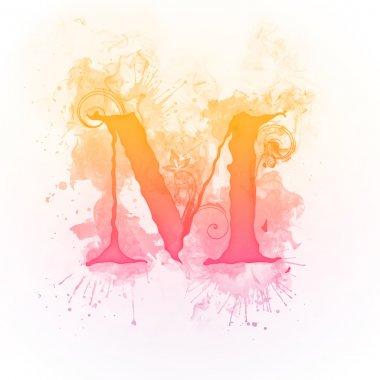 Sunny Swirl Letter M