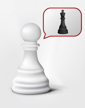 Chess Pawn and King
