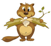 Photo Cartoon Character Beaver