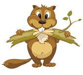 Fotografie Cartoon Character Beaver
