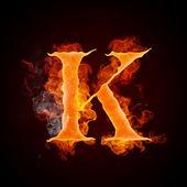 Fényképek tűz a betűk a-z
