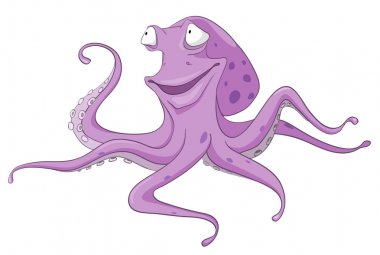 Cartoon Character Octopus
