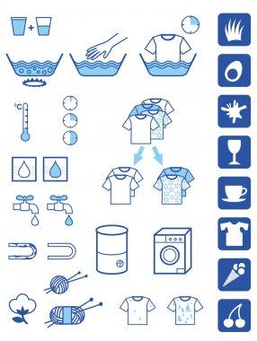 Detergent powder symbols