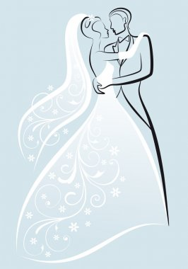 Wedding couple, vector