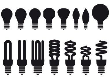 Energy saving bulbs, vector
