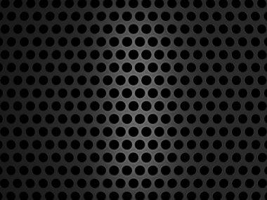 Metallic grill texture on black background