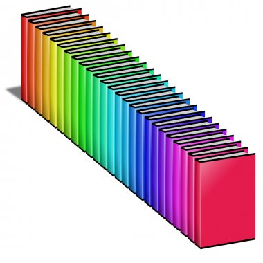 Many colored book.