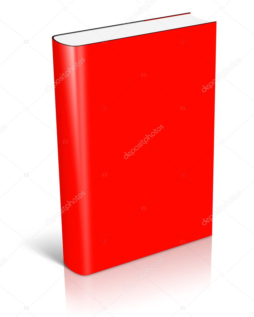 Book Cover Stock Images ~ Blank red book cover — stock photo akova