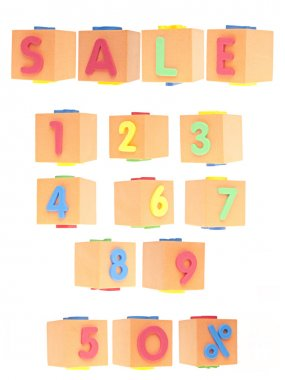 SALE Numbers and Word Set