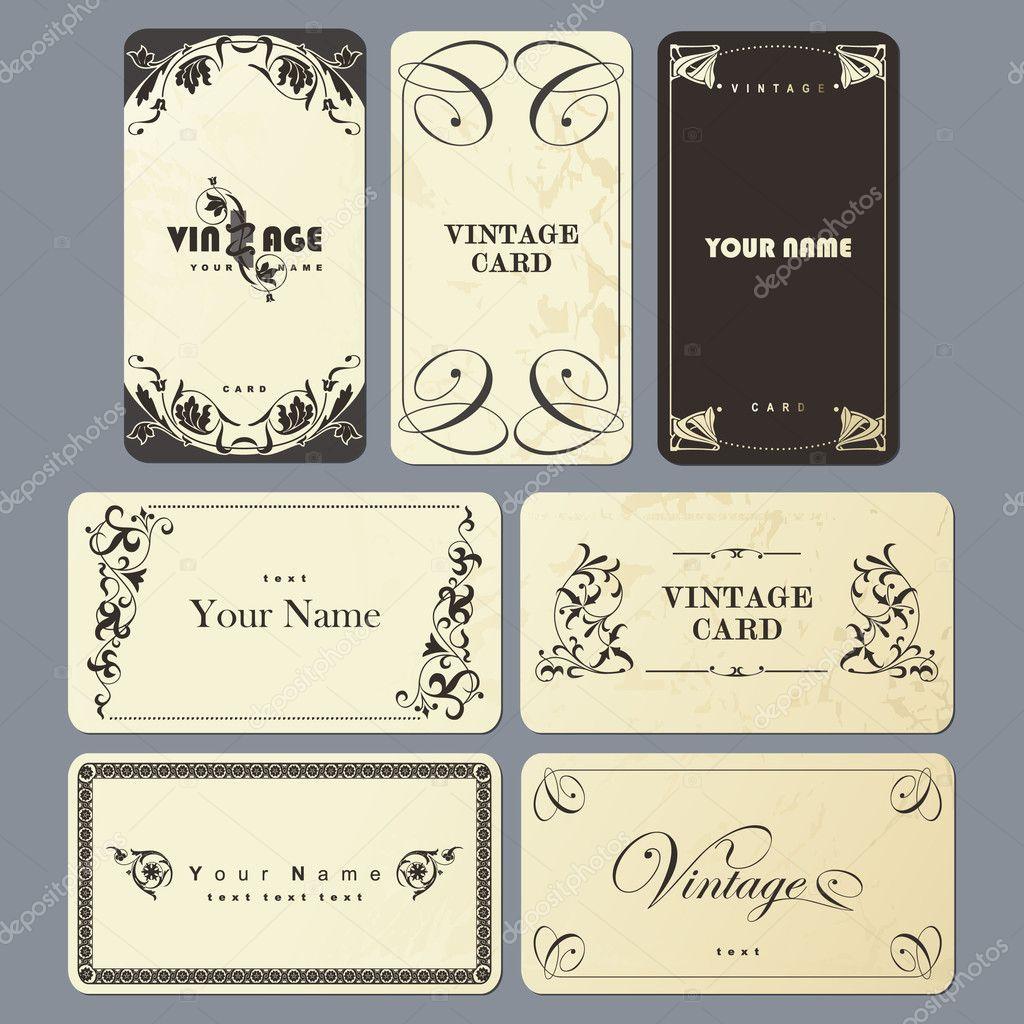 Vintage card set.
