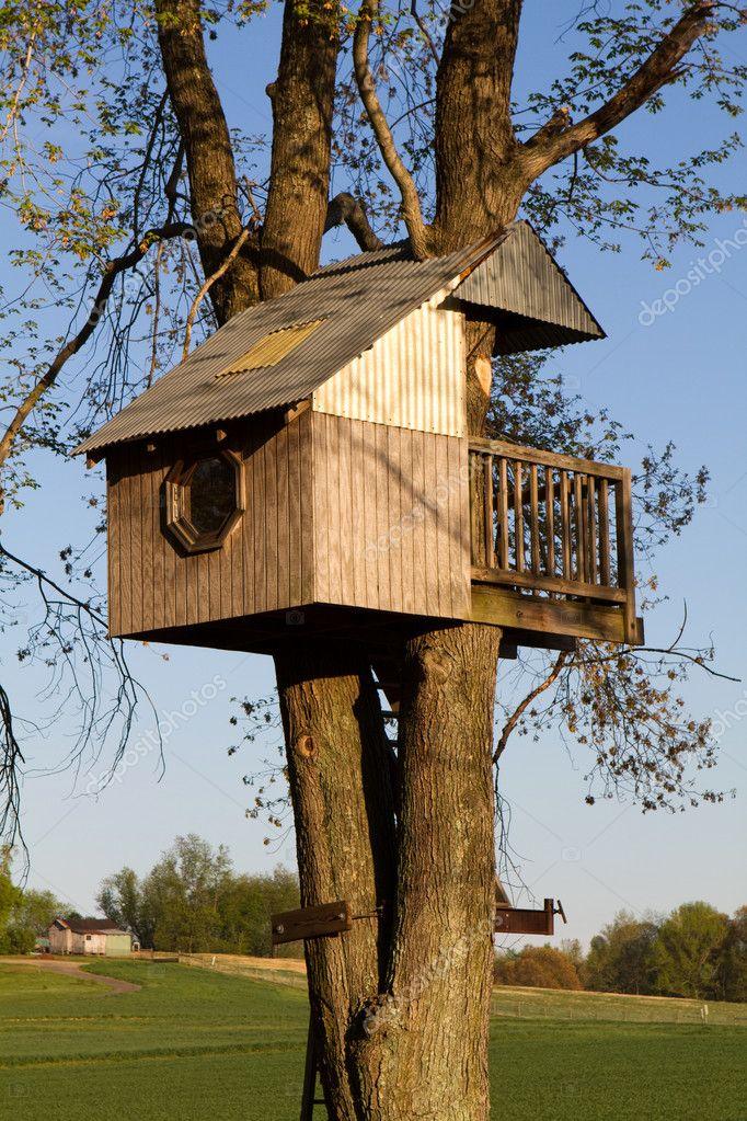 Casa del árbol para niños — Foto de stock © sframe #5592661