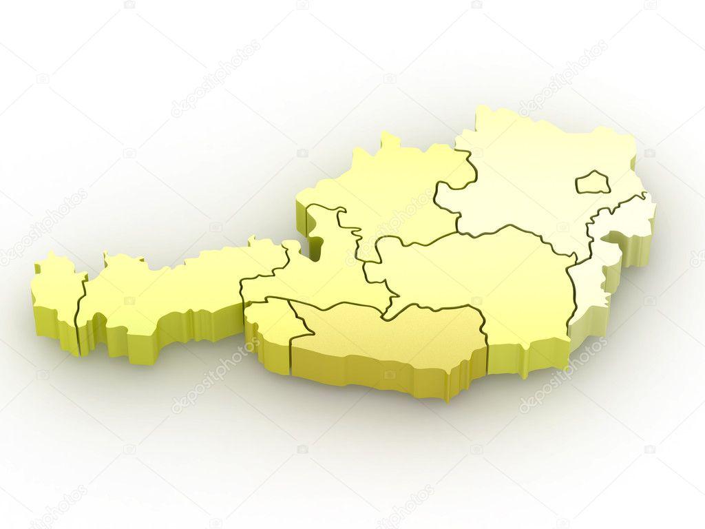 3d Karte Osterreich.Dreidimensionale Karte Von Osterreich 3d Stockfoto