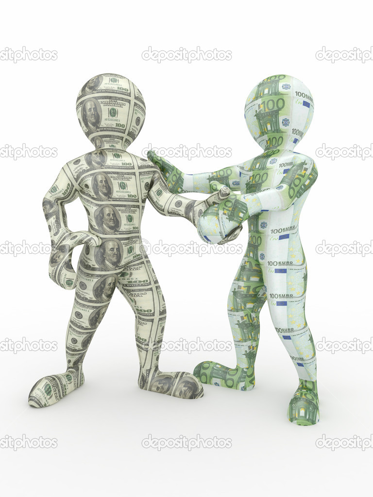 Cooperation Euro And Dollar Conceptual Image Stock Photo
