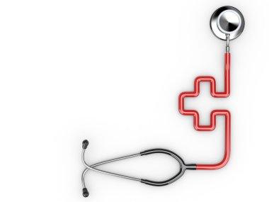 Stethoscope as symbol of medicine
