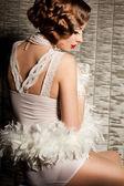 Fényképek divatos nő art visage - burleszk
