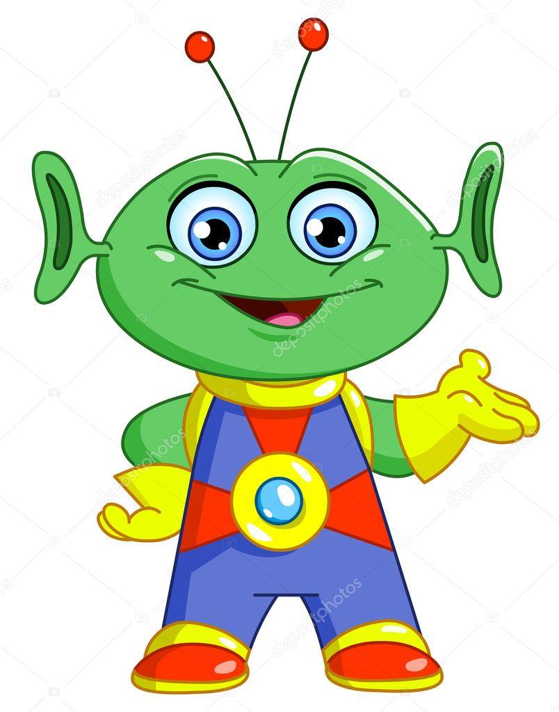 Friendly alien — Stock Vector © yayayoyo #5451168