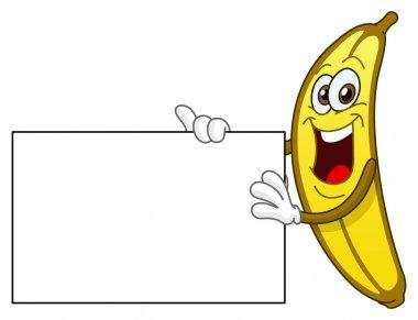 Banana holding a sign