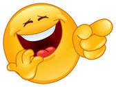 Fotografie Lachen und zeigen emoticon