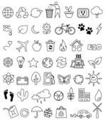Fényképek Eco doodle ikon készlet