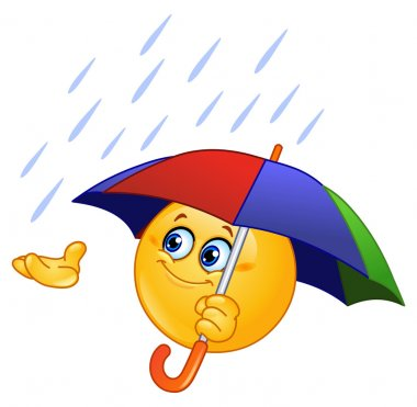 Emoticon with umbrella