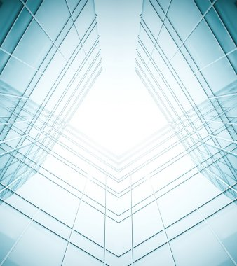 Abstract illustration of glass frame building skyscrapers