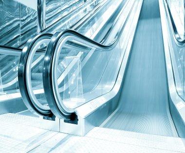 Escalator indoor shopping mall
