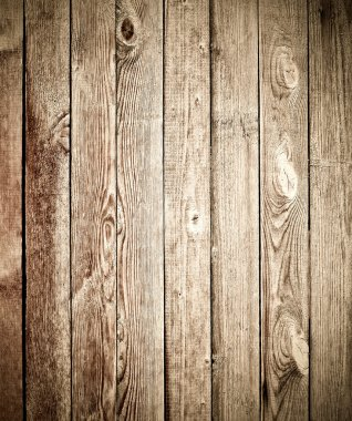 Old wooden planks of fence