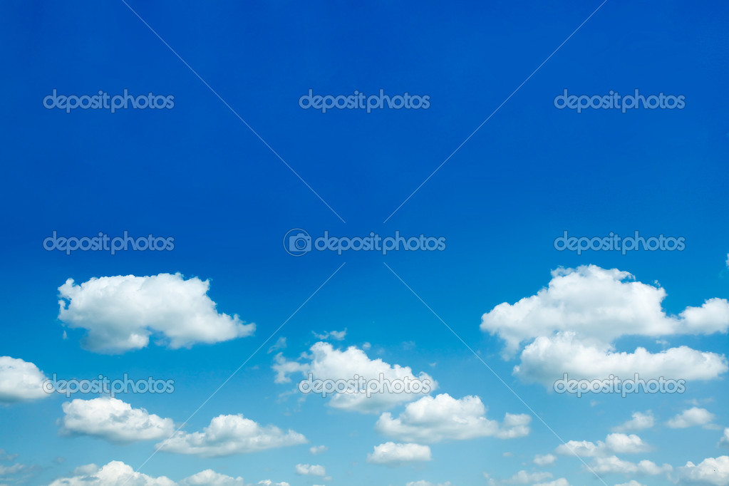 Beautiful sparse clouds in the blue sky