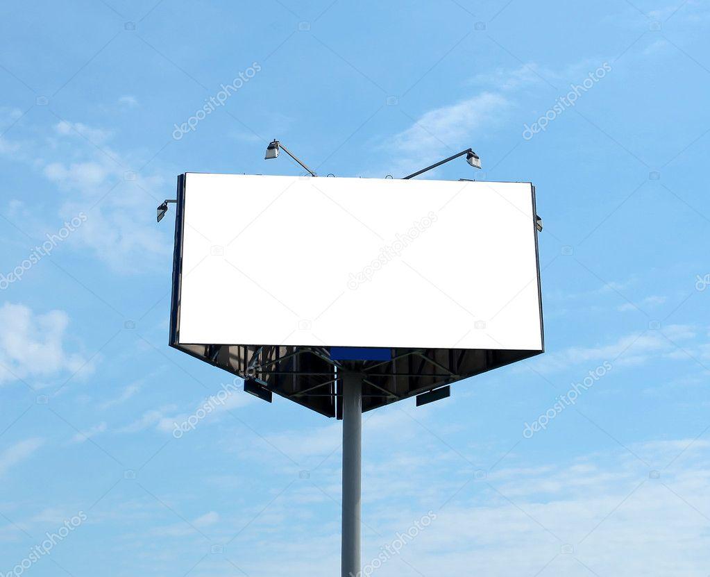 Triangular big blank billboard outdoor