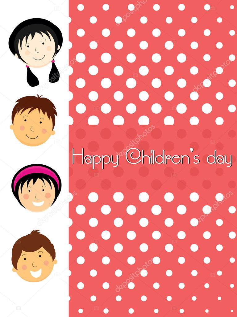 Illustration For Childrens Day Celebration Stock Vector