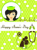 Fotografie vector happy nurses day greeting card